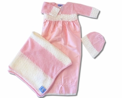 Biscotti Baby *Take Me Home * -Layette Hand Made -White
