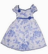 Biscotti Blue Dress, Size 9m, 12m