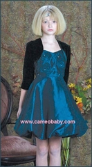 Biscotti Dress-  Holiday Green - with velvet shurg - Sizes 8 & 12