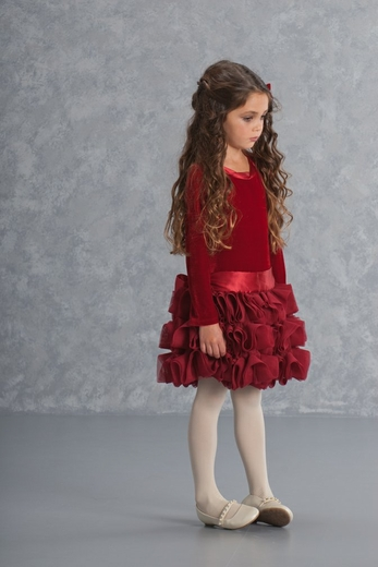 Biscotti Dresses 2-6X High Drama Dress, Red-Size 4 left only