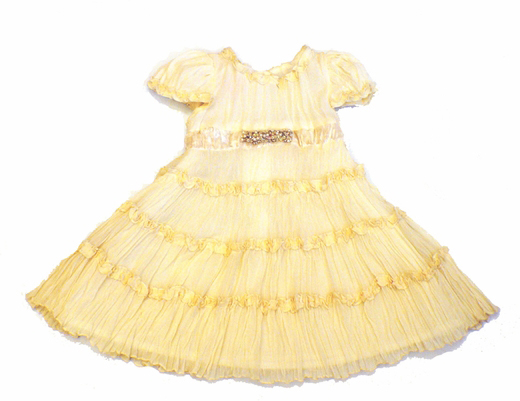 Biscotti Dresses *J'Adore* Ivory Silk Tiered Dress- Size- only 6m left