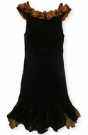 Biscotti Dresses- Lush Velvet Chocolate Brown Holiday Dress. Size 14
