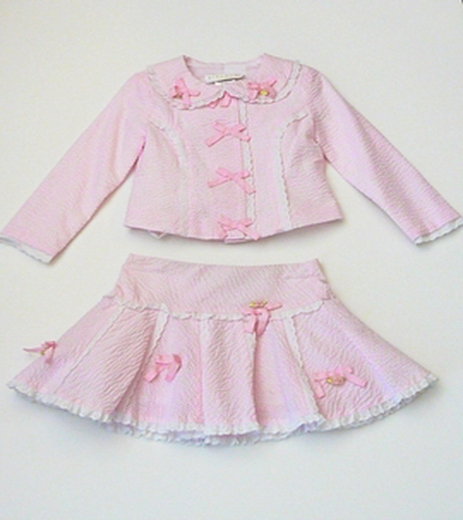 Biscotti  Pink suit 3 pc set ,Size 4 - 6x