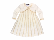 Biscotti *Touch of Gold* Dress & Sweater- Sizes 18m-5