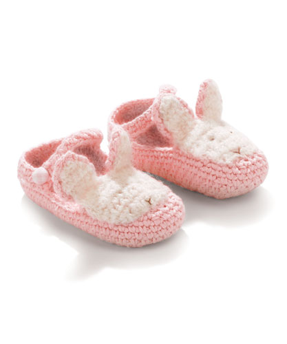 Bunnies By The Bay *Bunny Booties* Pink Fits 0-3m -6-12m