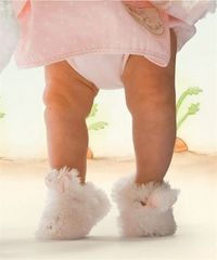 Bunnies By The Bay*Cuddle Toe Slippers*Sizes 0 to 12m -