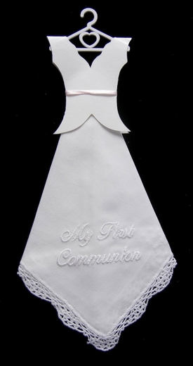 Communion - Dress - Hanky- Embroidered