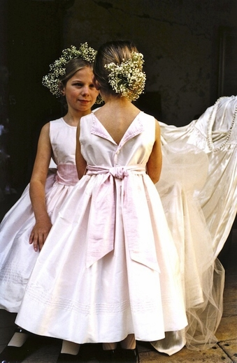 Communion-Flowergirl Dress-Lovely Silk with back vent