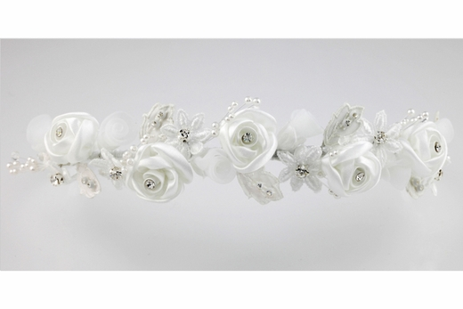 Communion Veil - with Lovely Satin  Roses- Order with or with-out attached veil*1227*