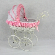 Doll Carriages,Strollers -and Doll Furniture -Custom made, hand woven quality carriages .