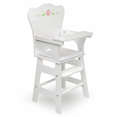Doll High Chair-White Rose-Back-ordered until January