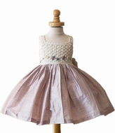 Hand-Made Dress with Crochet Top- Sizes 3M to 5- Can be specially ordered!