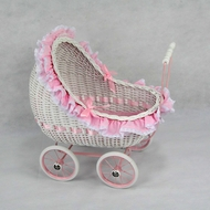 Isabella Play Buggy-Wicker Doll Carriage-Play Buggy