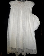 Ivory Lace Baby Gown