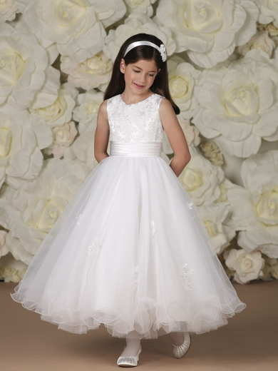 Joan Calabrese-*113366* Satin and Tulle with Lace Appliques