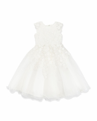 Joan Calabrese *114346* First Communion Dress-Satin and tulle-