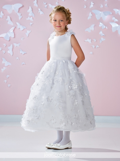 Joan Calabrese 117332- Communion Dress Satin, tulle and organza