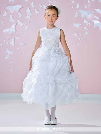 Joan Calabrese-117335 Communion Dress  Satin and Organza