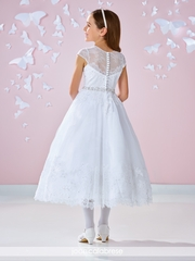 Joan Calabrese-117341 Communion Dress-Lace and Tulle
