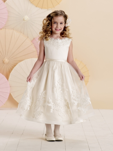 Joan Calabrese *214378* Sleeveless satin, tulle and lace