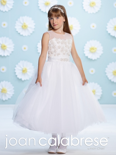 Joan Calabrese-Communion Dress-116382-Satin and Tulle with Hand Beading