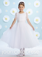 Joan Calabrese Communion Dress-116385-Tulle over Satin