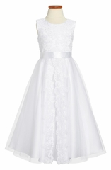 Joan Calabrese-Communion Dress *213305* Lovely in All Ivory for Communion