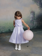 Joan Calabrese - Flower Girl Dress *Faux one Shoulder Taffeta* sizes 2 to 16