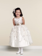 Joan Calabrese -Flower Girl Dress *Satin and Organza *