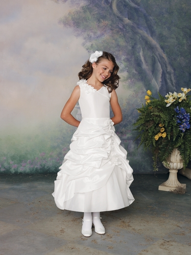 Joan Calabrese- Flower Girl Dress *Taffeta & Tulle*