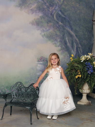Joan Calabrese for Mon Cheri *Satin & Tulle*- Flower Girl Dress