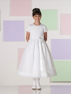 Joan Calabrese *Organza Flower w/ Ribbon Streamers Communion Dress*