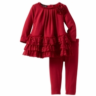 Kate Mack *A Dozen Roses* Red Ruffle Tunic & Legging - 6m to 4t