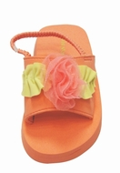 "Kate Mack ""Aloha Rose"" Coral Toddler Sandal"