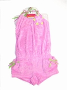 "Kate Mack-""Bali Hai"" Adorable Pink Terry Romper Size -6x"