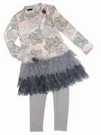 Kate Mack *Belle Epoque* Grey & Pink -Sizes 6-8