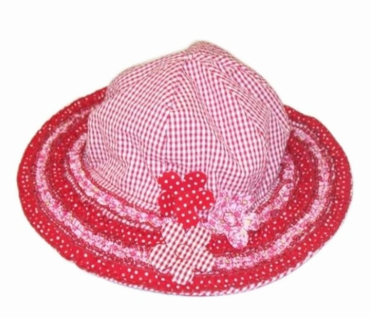 """Kate Mack """"Cherry Picnic"""" and """"Patchwork Picnic"""" Red Sun Hat"""