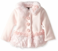 Kate Mack-*Confetti Hearts Polar Jacket* in Pink 18M