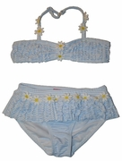 Kate Mack - Daisy Mae - Blue Skirted 2pc Swimsuit