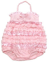 Kate Mack *Dipped in Ruffels* Infant Romper-