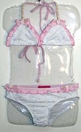 Kate Mack *Eyelet Sweetie* Swim Suit 2pc-Size 5 & 6x ONLY!
