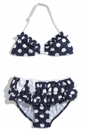 Kate Mack *French Riviera'*Ruffle Polka Dot Bikini - Sizes 2 -4
