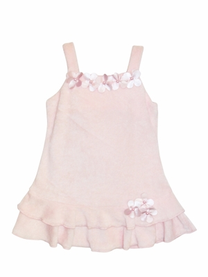 Kate Mack *Poolside Pink Petals* Terry A-Line Dress- Sizes 24M 5 & 6