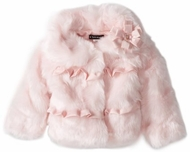Kate Mack-*Pretty Kitty Faux Fur Jacket* sizes 12m-4t