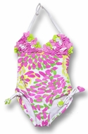 Kate Mack *Summer Petals* One Piece Swimsuit -  7 to 12