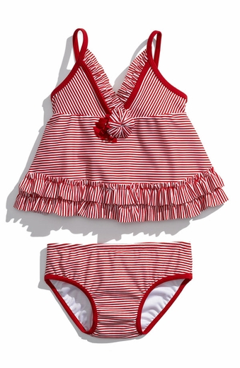 Kate Mack Swim 'Fourth of July' red striped tank