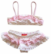 Kate Mack-Swim suit- Pink Poka -Size 2t