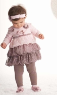 Kate Mack Swiss Mocha Tunic & Leggings-Size 18m