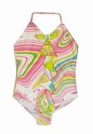Kate Mack 'Venetian Glass' One Piece Bathing Suit - 6x & 7