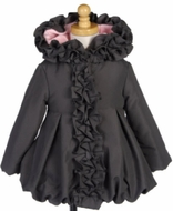 Mack & Co. Girls Ruffled Coat